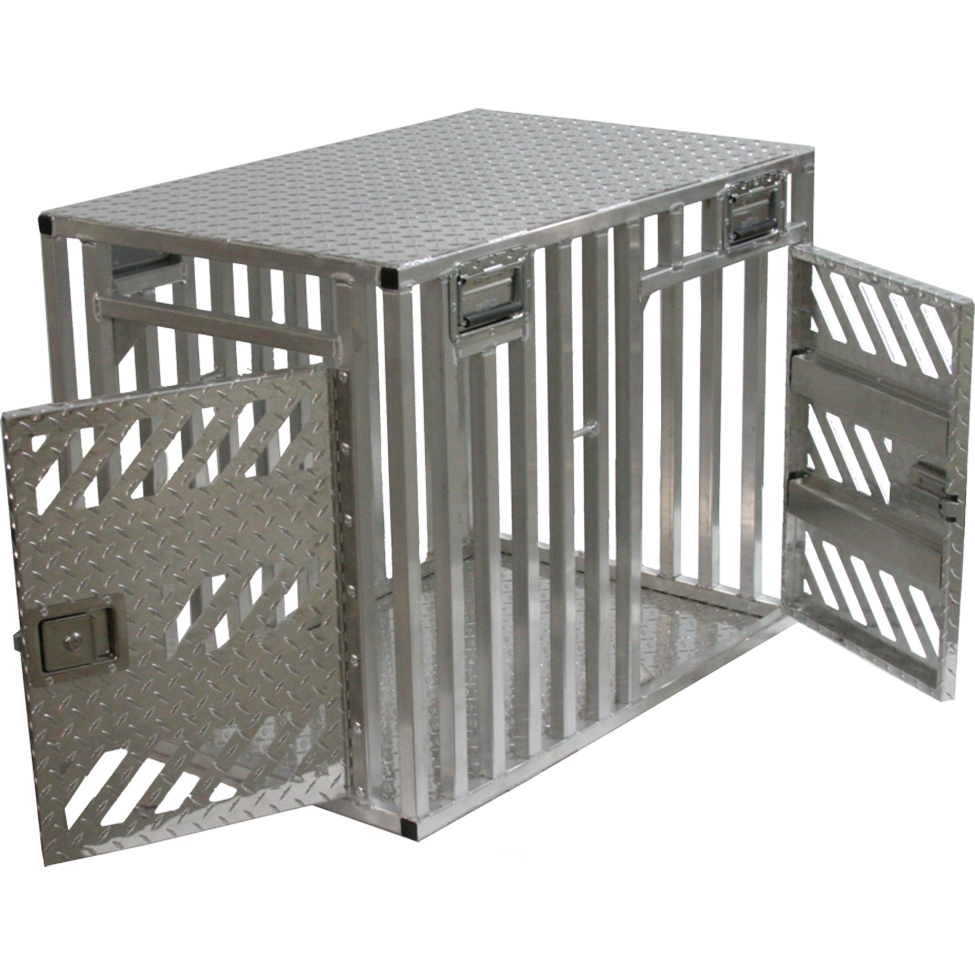Double door full ventilation crate ace dog gear for High end dog crates